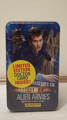 Dr Doctor who trading cards alien armies tin A limited edition tin