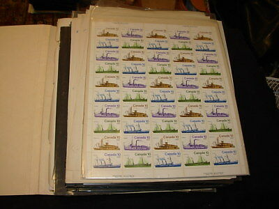 Stack Of Assorted Stamps On Manila Sheets / Stock Pages!