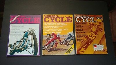 Lot of 3 vintage magazines MODERN CYCLE 1969 Nice lot!
