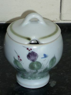 Buchan Pottery Portobello Scotland Lidded Preserve Pot 10.5cm Tall