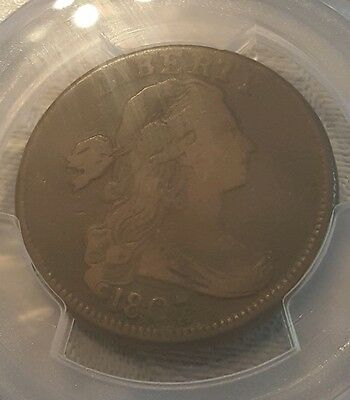1807 Draped Bust Large Cent - Pcgs Genuine Very Good Details - Large Fraction!!!