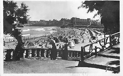 64 Carte Photo Biarritz Plage Animee