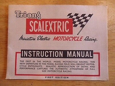 Tri-Ang Scalextric Motorcycle Racing Instruction  Manual First Edition