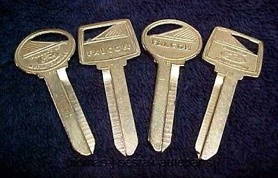 (2) NOS Key Blanks One Door & One Trunk - Ford Falcon Crest Logo 66 67 68 69 70