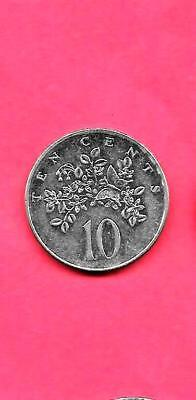 JAMAICA KM47a 1990 UNC-UNCIRCULATED 10 CENTS MINT OLD COIN