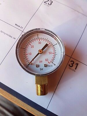 swimming pool sand filter pressure gauge  0.5 inch connection