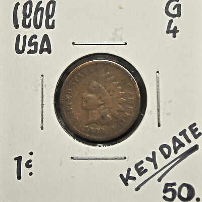 1868 United States One Cent G-4