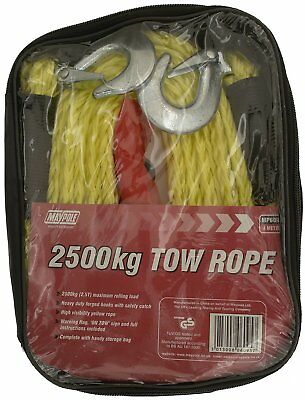 Maypole 6095 4M 2500Kg Car Tow Towing Rope Single