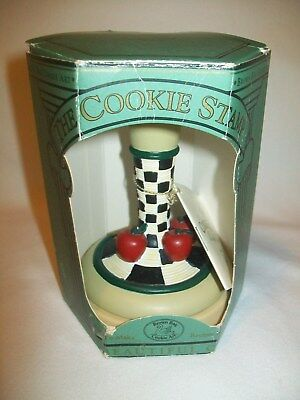 Brown Bag Cookie Art Stamp Press Mold 1995 Apples #5 w mini Recipe book attached