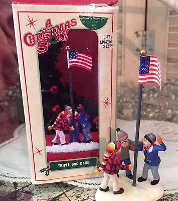 Department 56 A Christmas Story Village Triple Dog Dare Accessory Figurine 2006