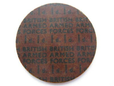 NAAFI British Armed Forces currency Penny 29mm plastic