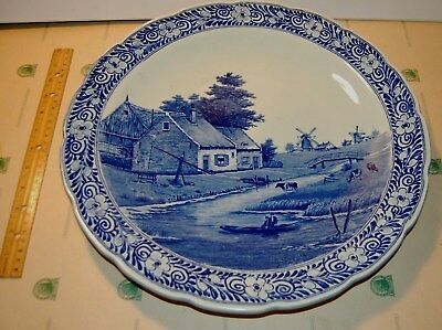 Petrus Regout & Co Delft Collectors Wall Charger Plate