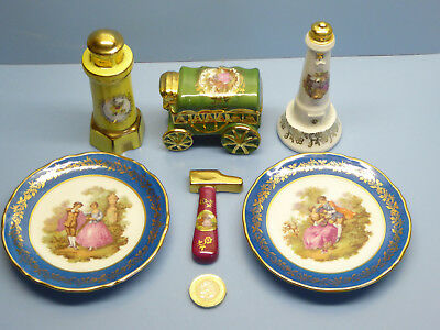 Limoges Miniatures  Plates , Wagon / Carriage, Hammer , Lighthouses , French
