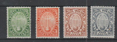 Vatican 1933 Holy Year Set fine MH SG 15 - 18