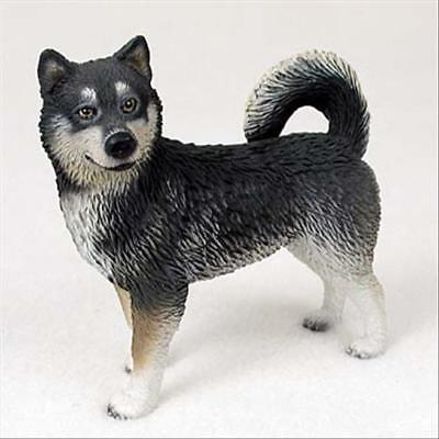Alaskan Malamute Dog Hand Painted Collectable Figurine Statue