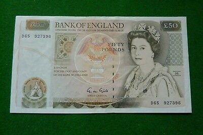1988-1991 G N Gill Fifty Pound Note D65 927396 - Vf+