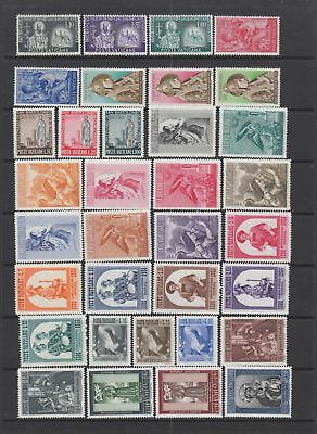 Vatican 1955- 1958 collection , 63 stamps , MH