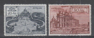 Vatican 1949 , 40L and 80L Express  fine MH
