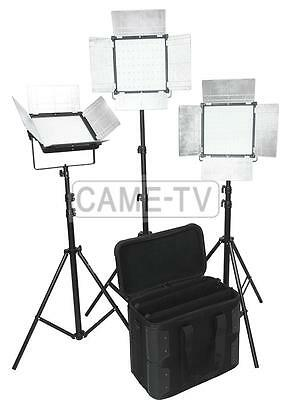 CAME-TV DOF 3x1296 LED Bi-color 5600K 3200K Dimmable 1296S Panel Lighting Kit