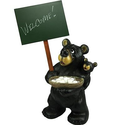 Rivers Edge Large Bear Holding Chalkboard 965