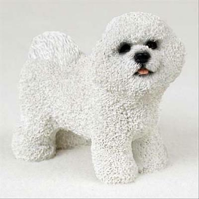 Bichon Frise Dog Hand Painted Collectable Figurine Statue