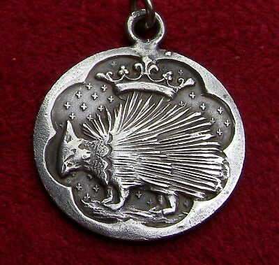RARE Antique Sterling Porcupine Mate for Life Victorian Mourning Jewelry Pendant