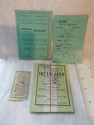 The South Eastern & Chatham Railway Company Ticket Etc 1912 London - Interlaken