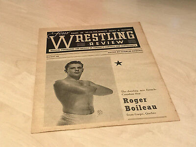 1950s Wrestling Review Official Banbury Programme No.162 - Sumunovich v Walsh