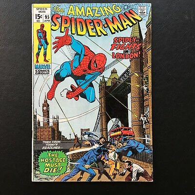 The Amazing Spider-Man #95 - SA Lot Marvel Spidey in London! ASM
