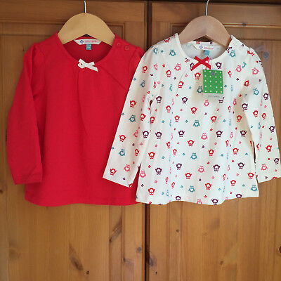 *NEW WITH TAGS* JOHN LEWIS Girls T-shirts Size 12-18 Months