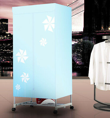 Blue Portable Home Energy-saving Drying Rotary Switch Electric Air Clothes Dryer