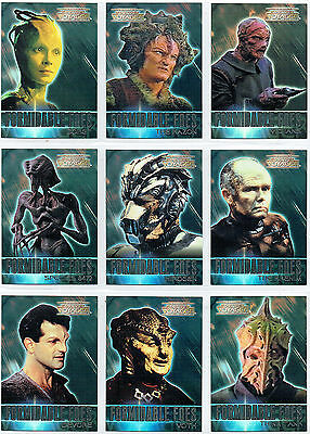 Complete Star Trek Voyager Set Of 9 Formidable Foes