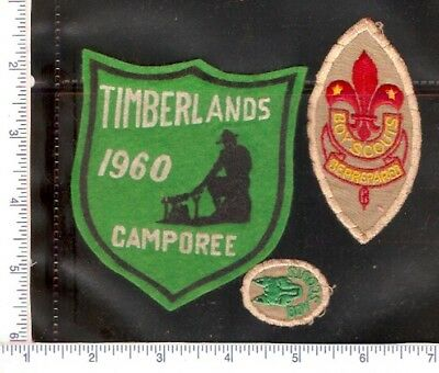 3 Vintage used Scouts Canada  patches , one from 1960.