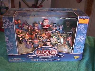 Rudolph the Red Nosed Reindeer Holiday Toys PVC Figure Collection NIB