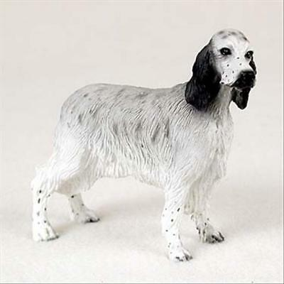 English Setter Blue Belton Dog Hand Painted Collectable Figurine Statue