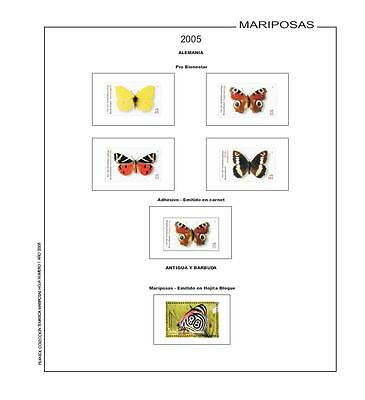 Stamps Butterflies - Filkasol Thematic - Hojas without mount -