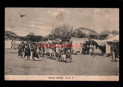 B.E.A. British East Africa KIBWIZI MARKET Figueira POSTCARD 1913 to London - 31