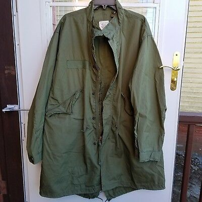1974 Genuine U.S Army/Military/USMC Fishtail Parka/Liner Extreme Cold Weather Sm