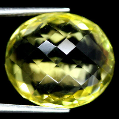 22.72 CT AAA! NATURAL! 16 X 18 mm. LEMON YELLOW AFRICAN QUARTZ OVAL WITH CKB