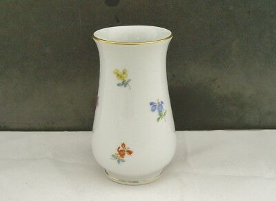 Meissen Porcelain Small Vase Hand Painted Floral Sprig Decoration