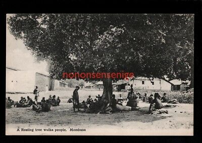 B.E.A. British East Africa MOMBASA RESTING TREE WUIKA PEOPLE Figueira E20C - 39