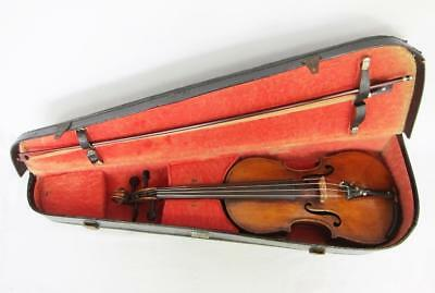 FINE ANTIQUE VIOLIN + CASE Label Reads ALBANI PALERMO 1633 viola vintage cello