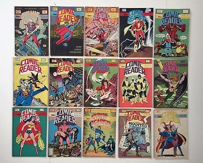 The Comic Reader Fanzine Lot of 15 issues (January 1979-October 1981)