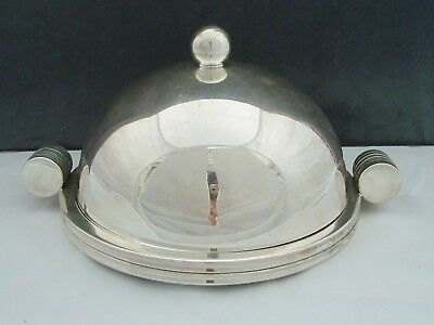 Unusual Walker & Hall Art Deco Silver Plated Muffin Dish So Stylish!