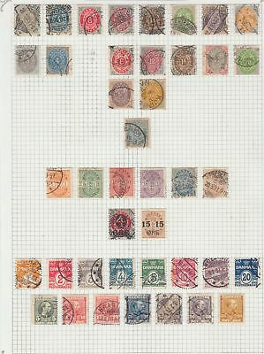 Denmark 1875 - 1937  collection on pages