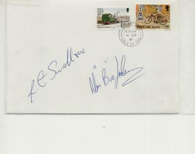 Isle of Man 1991 Manx Grand Prix Classic Winners Signed Cover, Swallow, Jackson