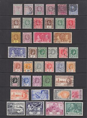 Leeward Islands QV - KGVI collection,