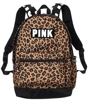 Victorias Secret PINK Campus Backpack Bookbag Tote In Leopard Print 2017 BNWT!