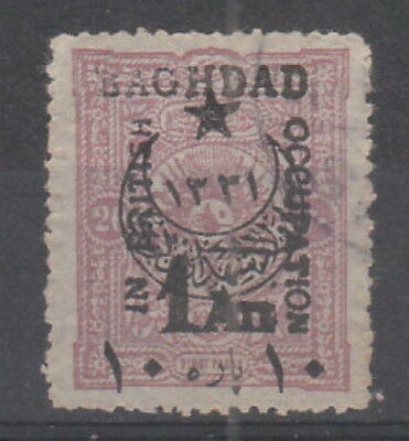 British Occupation of Baghdad 1917 , 1a on 10pa on 20pa Rose fine used.