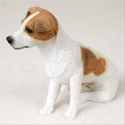 Jack Russell Brn Wht Smooth Dog Hand Painted Canine Collectable Figurine Statue